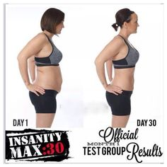 Insanity Max 30 results... from the MODIFIER!! She modified the ENTIRE TIME and looks like this half-way through the program! Click on the image to learn more about this program or connect with me and join my challenge group. Repin if you know any other fellow Insanity lovers!