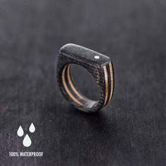 Recycled skateboard wooden ring | BoardThing - on ArtFire