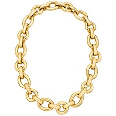 Gold oval and round link necklace...pretty.