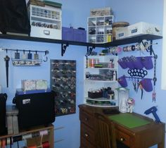 Some craft room organization ideas using items from IKEA, Michaels, Target, and more.