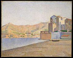 Paul Signac (French, 1863–1935). The Town Beach, Collioure, Opus 165 (Collioure. La Plage de la ville. Opus 165), 1887. The Metropolitan Museum of Art, New York. Robert Lehman Collection, 1975 (1975.1.208)