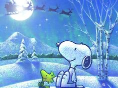 snoopy, here comes Santa Clause!