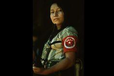 1983. Mujer combatiente de la Brigada Rafael Arce Zablah (BRAZ), en Morazán.