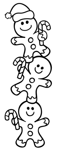 Free Christmas coloring pages - gingerbread man coloring sheets - copy free coloring pages christmas lights