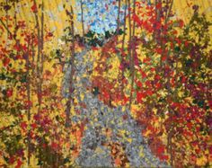 "Autumn Trees Original Art Quilt Wall Hanging created for your home or office decor. Scraps of colorful batiks were used to create this confetti quilt! Quilt Guild members bless me with their too small to use pieces. I challenged myself to create a wall hanging from the throw-aways, mixing pieces from my stash, and this quilt was the result.    Thousands of pieces of batik fabric are confetti cut, then ""painted"" on quilt backing and batting. Fussy cut trees trunks were added before covering…"