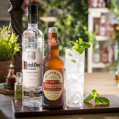 Ketel One Vodka, Ginger Cocktails, Fentimans, Lime Wedge, Ginger Beer, Natural Flavors, Whiskey Bottle, Rum, Brewing
