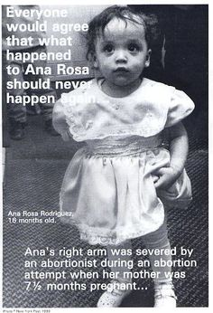 Little Ana Rose a survivor victim of abortion