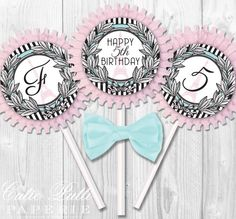 Paris Party French Party Parisian Party 2inch by CutiePuttiPaperie, $12.00