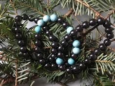 A personal favorite from my Etsy shop https://www.etsy.com/ca/listing/485261922/hematite-and-turquoise-bracelets