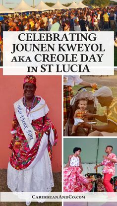 Find out about Jounen Kweyol aka Creole Day in St Lucia which is a celebration of Creole language and culture through food, music, drumming and dancing. St Lucia Caribbean, Caribbean Carnival, Cuba Travel, Mexico Travel, Uganda Travel, Travel Usa, Central America, North America, Latin America