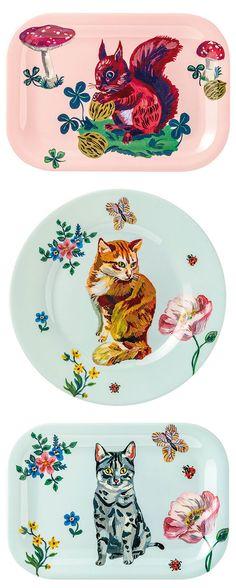 ceramic dishware featuring art by nathalie lete / sfgirlbybay