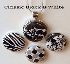 Interchangeable Magnetic Pendant Necklace by BellyLaughButtons, $10.00