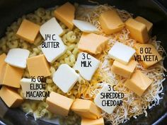 Slow Cooker Mac and Cheese - throw in some chunked up ham and let's eat!!