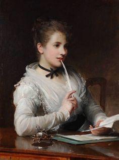 The Love Letter, Samuel  Fildes.