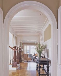 Custom trim:  The arched doors and white accent trim would be throughout my home.  provides a wonderful contrast to any color.  It's also happy!!