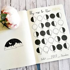 #bulletjournal collection : fly me to the moon #bujo #journal