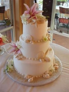 I wish this is what my cake looked like. My cake ended up with blue sea shells, yuck