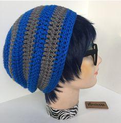 f6c7ca52fa Ravenclaw Harry Potter Inspired Slouchy Beanie Handmade Crochet Unisex Hat  New | depop Crochet Slouchy Hat