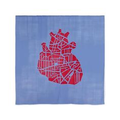 A heart on a blue background