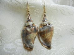 Gold Plated Conch Shell with Hypoallergenic Wires by TheSaltyShell, $18.00