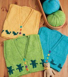 Ravelry: Animal Vests pattern by Marcie Brooks