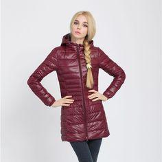 Snowka女性暖かい冬ジャケット女性コート薄いブランド90%白いアヒルダウンパーカー超軽量ダウンジャケット長いエレガント生き抜く