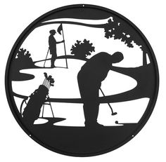Hand Made Golfer PGA WPGA Golf Art Scenic Art Wall Design *NEW* Isometric Drawing Exercises, Metal Business Cards, Golf Art, Laser Cut Patterns, Alien Concept Art, Thing 1, Wood Burning Patterns, Metal Art, Paint Metal