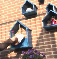 Great garden idea! Birdhouses deco in summer - for food in winter