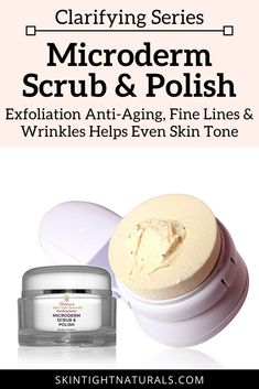 If you are looking for an exfoliating product that helps the appearance of fine lines, pocks, discolor, spots, wrinkles post-acne discoloration, sun damage, melasma, freckles, premature aging enlarged pores, facial keratosis pilaris (bumpy) and blotchy skin, then this is your new favorite scrub and micro peel Including microcrystals for gently removing dead dull skin and texture enhancing nutrient-rich elements for clearing up acne and refining wrinkles. #antiagingcream #antiwrinklecream Anti Aging Cream, Anti Aging Skin Care, Skin Tightening Lotion, Skin Polish, Wrinkle Remedies, Dull Skin, Wrinkle Remover, Even Skin Tone, Face Skin
