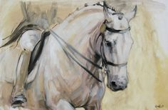 Aceites+originales+sobre+lienzo+caballo+por+heatherirvinefineart,+£140.00