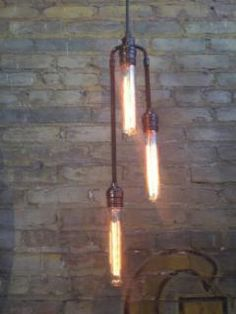 Omega Lighting Design has some good stuff in teh Steampunk Industrial Modern genre. The Stag
