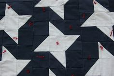 Star section detail from All-American Flag Quilt, by Alethea Ballard American Flag Quilt, Old Things, Quilts, Sewing, Detail, Flags, Star, Modern, Ideas
