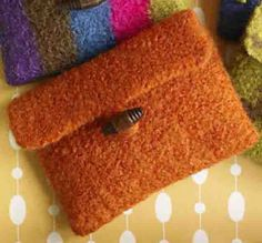 Ravelry: Make It Yours Purse - Solid pattern by Lion Brand Yarn. Felted purse. Free pattern.