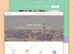 Antigo PSD Web Template by bluroon on @creativemarket