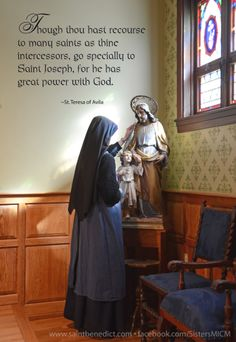 Quotes about Saint Joseph. Blessed be God in all His designs. facebook.com/SistersMICM Sisters, Slaves of the Immaculate Heart of Mary; Saint Benedict Center, Still River MA.
