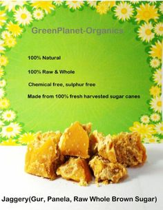 2 lbs Raw Organic Jaggery (Panela, Gur, Raw Brown Sugar) - http://goodvibeorganics.com/2-lbs-raw-organic-jaggery-panela-gur-raw-brown-sugar/