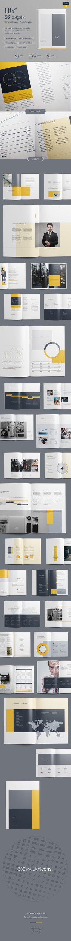 Free Company Profile Print Template - Theme Raid