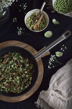 Alcachofas salteadas con habitas y ajos tiernos. Receta. | To be Gourmet | Bloglovin'