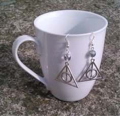 Toremore Crafts  Harry Potter and the Deathly Hallows - Xenophilius Lovegood inspired earrings