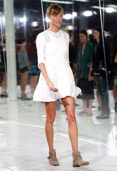 Make like #KarlieKloss in this #ASOS Premium sweeter than sweet skater #dress http://asos.to/19zPZx8