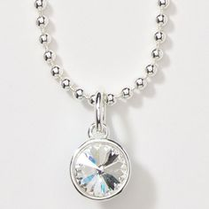 Viva Charm Chain Necklace $39 - Large Swarovski crystal charm on a dazzling ball chain.  Add extra charms to your collection to change up your look instantly!  Layer charms for extra fun!      Julie's Touchstone Crystal Online Shop