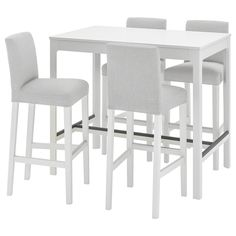 Ekedalen Bergmund (IKEA Dining Sets Up To4 Seats) ( Furniture > Dining Furniture > Dining Table Chair > Dining Sets ) #69408898 Ikea Dining Sets, Table Bar, Dining Furniture, Up, Home Decor, Products, Gray, Stools, White People