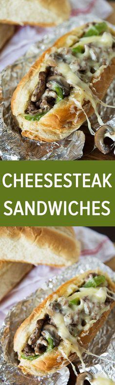 Cheesesteak Sandwiches | tablefortwoblog.com #recipe