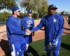 Adrian Gonzalez, Joc Pederson and Yasiel Puig. / Dodgers photo blog