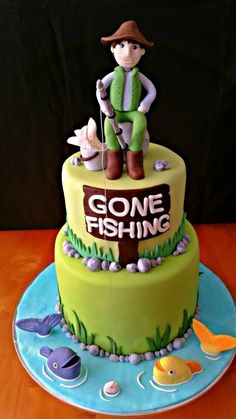 Fishing Themed Cake                                                                                                                                                                                 More