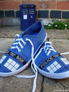 TARDIS sneakers - Click image to find more women%27s fashion Pinterest pins