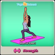 Warrior I - Strength #yoga #yogaretreatgame: https://itunes.apple.com/ca/app/yoga-retreat/id636437510?mt=8