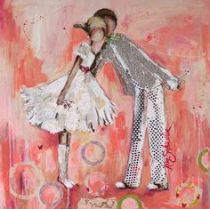 Painting by Kim Schuessler Illustrations, Illustration Art, Watercolor Artwork, Watercolour, Contemporary Artwork, Mixed Media Artists, Whimsical Art, Beautiful Paintings, Creative Inspiration