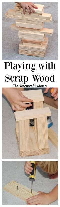 What can you make with scrap wood? A fun STEM challenge! Pull out your scrap wood for a simple play activity for your kids.