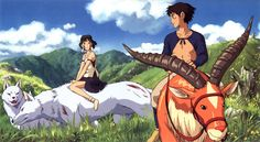 Another great film by Studio Ghibli: Princess Mononoke. An awesome Miyazaki movie with fantastic animation and art with a great story to boot. Art Studio Ghibli, Studio Ghibli Films, Hayao Miyazaki, Totoro, Mononoke Anime, Manga Anime, Anime Art, Film D'animation, Movie Film